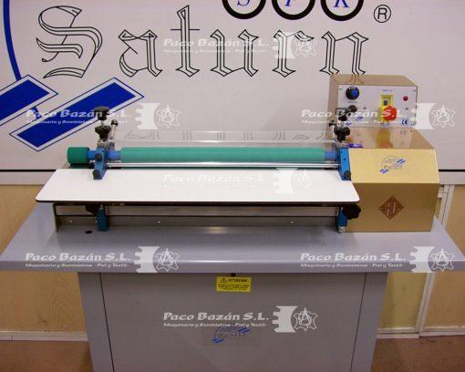 máquina de rodillo para colocar adhesivos base agua