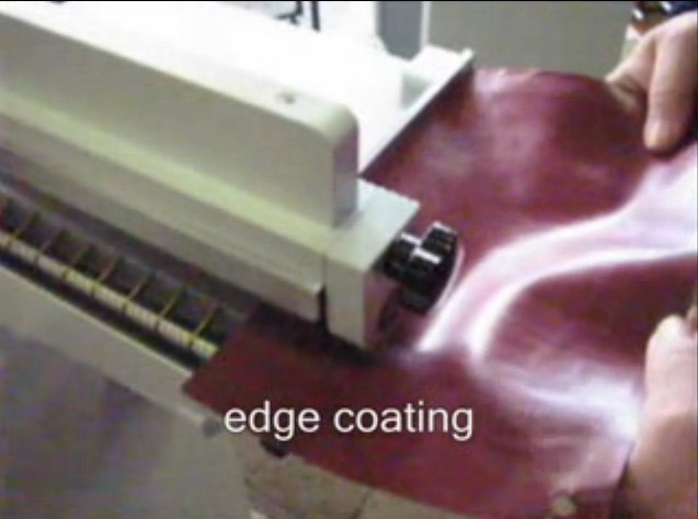 Máquinas para calzado precios colocando pegamento a bordes