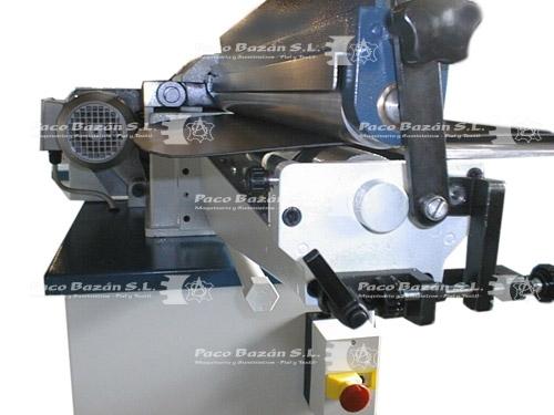 perfil lateral de máquina de rodillos para aplicar adhesivo
