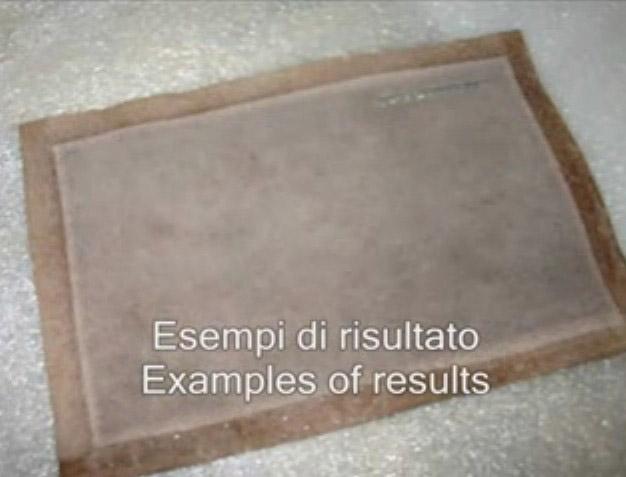 Bordes con pegamento poliuretano en material delicado