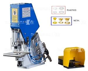 La máquina JOPEVI J21 para colocar ollaos y arandelas sin arrugar el material