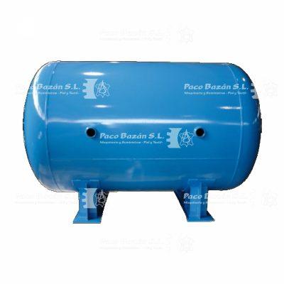 Depósito de aire comprimido horizontal de alta capacidad.