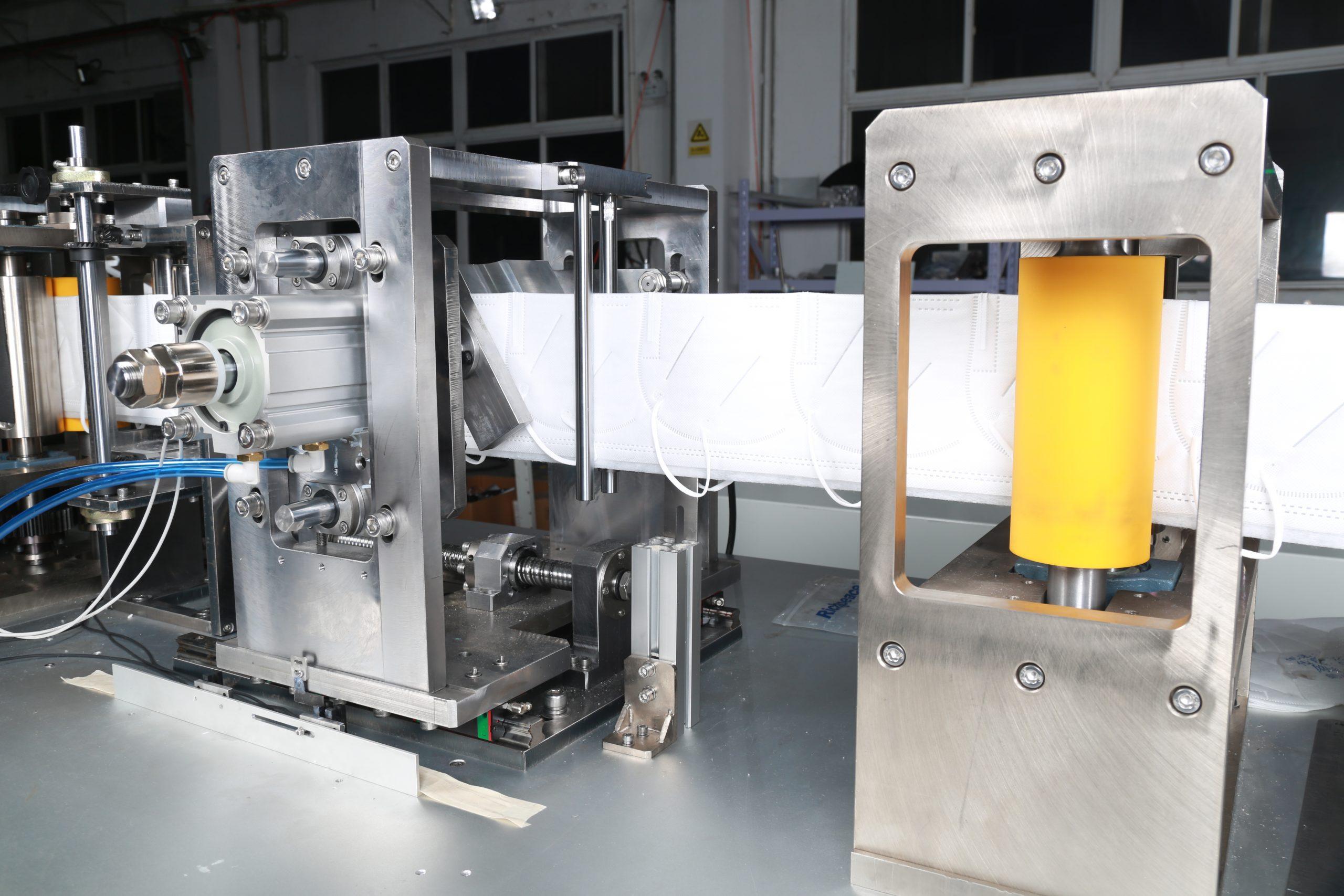línea de producción de mascarillas contra el COVID-19